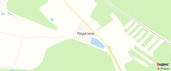 Карта деревни Людятино в Московской области с улицами и номерами домов