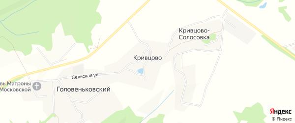 Карта деревни Кривцово в Тульской области с улицами и номерами домов