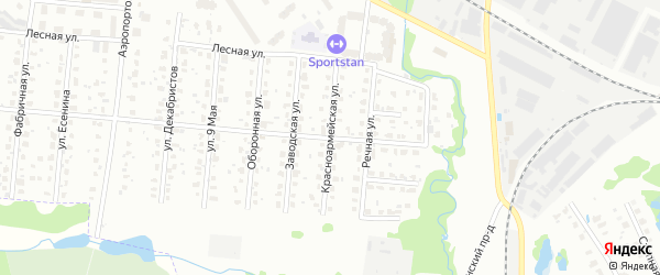 Красноармейская улица на карте Лобни с номерами домов