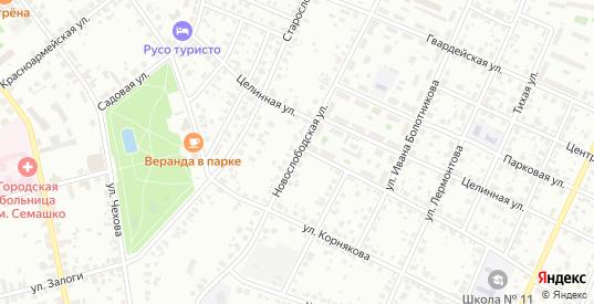 Новослободская улица в Серпухове с номерами домов на карте. Спутник и схема онлайн
