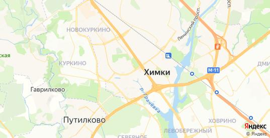 Карта Химок с улицами и домами подробная. Показать со спутника номера домов онлайн