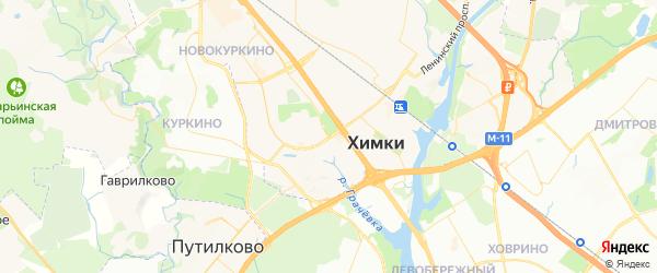 Карта Химок с районами, улицами и номерами домов