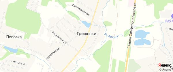 Карта деревни Гришенки города Чехов в Московской области с улицами и номерами домов