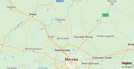 Карта Дмитровского района Московской области с городами и населенными пунктами