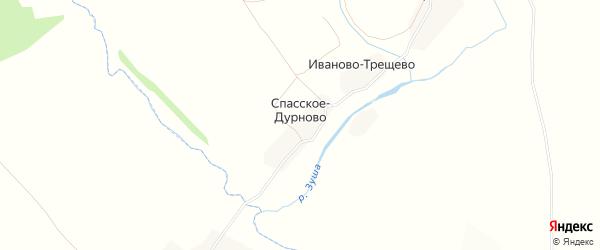 Карта деревни Спасское-Дурново в Тульской области с улицами и номерами домов