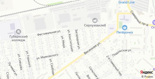 Загородная улица в Серпухове с номерами домов на карте. Спутник и схема онлайн