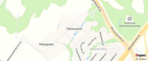Карта деревни Прокшино в Москве с улицами и номерами домов