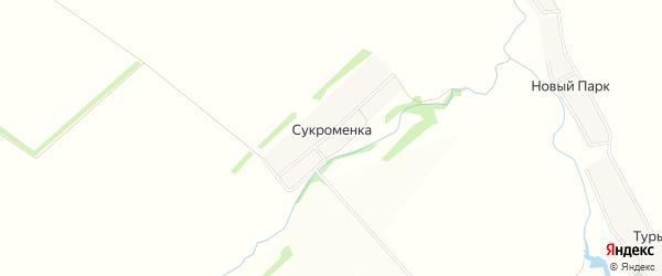 Карта деревни Сукроменки в Тульской области с улицами и номерами домов