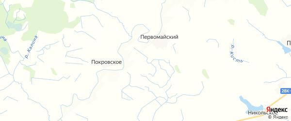 Карта Шепелевского сельского поселения Тверской области с районами, улицами и номерами домов