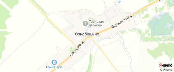 Карта села Ознобишино в Москве с улицами и номерами домов