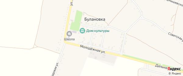 Молодежная улица на карте села Булановки Белгородской области с номерами домов