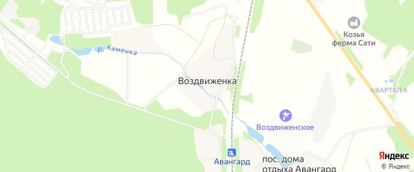 Карта деревни Воздвиженки в Московской области с улицами и номерами домов