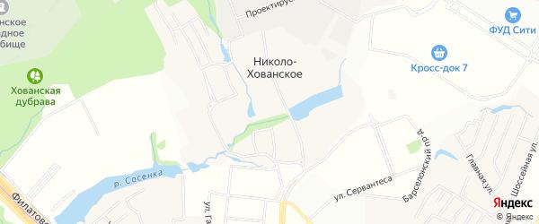 Карта деревни Николо-Хованского в Москве с улицами и номерами домов