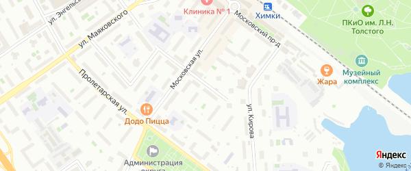 Аптечная улица на карте Химок с номерами домов