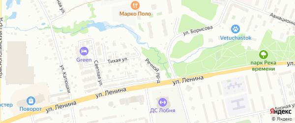 Речной проезд на карте Лобни с номерами домов