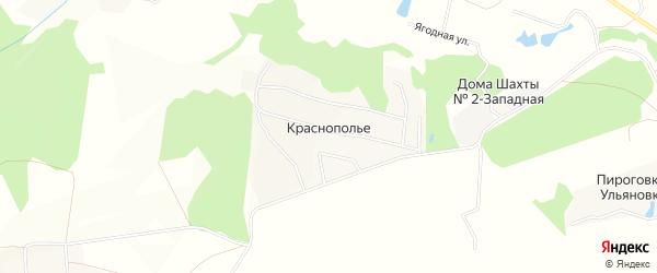 Карта деревни Краснополья в Тульской области с улицами и номерами домов