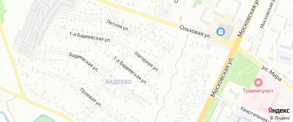 Нагорная улица на карте Чехов с номерами домов