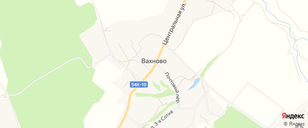 Карта деревни Вахново в Орловской области с улицами и номерами домов