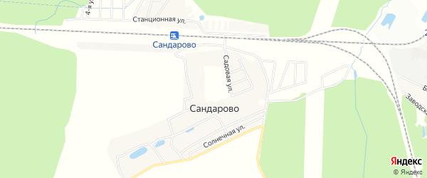 Карта деревни Сандарово города Чехов в Московской области с улицами и номерами домов