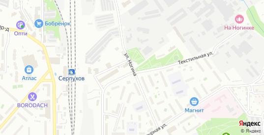 Улица Ногина в Серпухове с номерами домов на карте. Спутник и схема онлайн