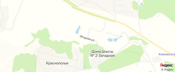 Карта садового некоммерческого товарищества Шахтера 1 в Тульской области с улицами и номерами домов