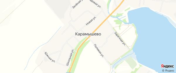 Карта села Карамышево в Тульской области с улицами и номерами домов