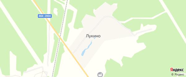 Карта деревни Лукино в Московской области с улицами и номерами домов