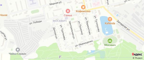 Центральная улица на карте Лобни с номерами домов