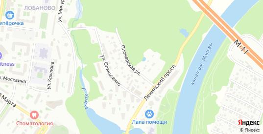 Пионерская улица в Химках с номерами домов на карте. Спутник и схема онлайн