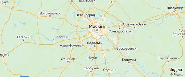Карта Сосенского поселения города Москвы с городами и населенными пунктами