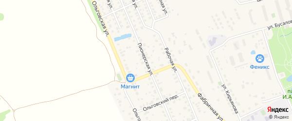 Пионерская улица на карте Яхромы с номерами домов