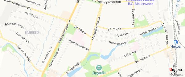 Территория ГСПК Космос на карте Чехов с номерами домов