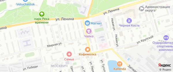Улица Дружбы на карте Лобни с номерами домов