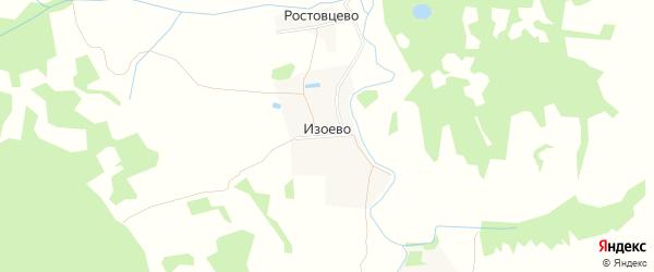 Карта деревни Изоево Никольского сельского поселения в Тверской области с улицами и номерами домов