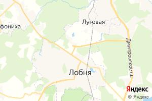 Карта г. Лобня Московская область