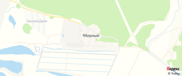 Карта Мирного поселка в Московской области с улицами и номерами домов