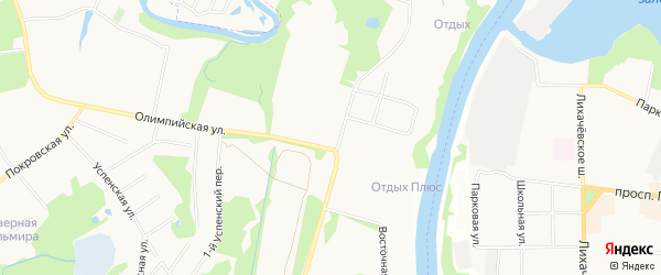 Карта микрорайона Клязьмы города Химок в Московской области с улицами и номерами домов