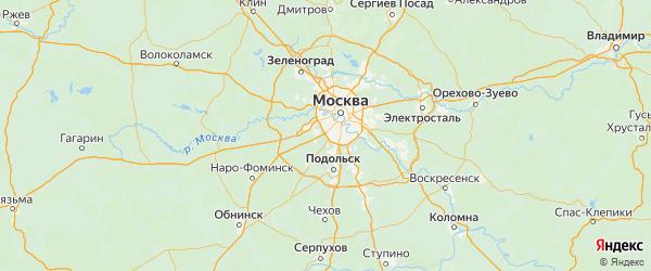 Карта поселения Мосрентгена города Москвы с городами и населенными пунктами