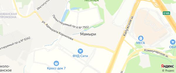 Карта деревни Мамыри в Москве с улицами и номерами домов