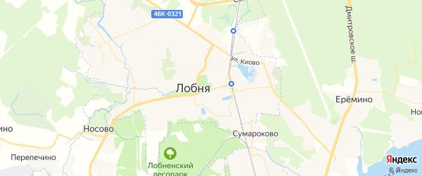 Карта Лобни с районами, улицами и номерами домов
