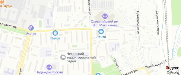 Весенняя улица на карте деревни Покрова с номерами домов