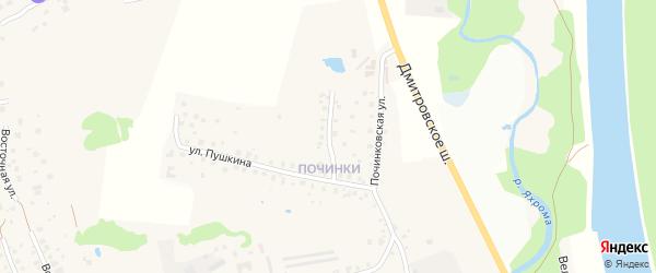 Совхозный проезд на карте Яхромы с номерами домов