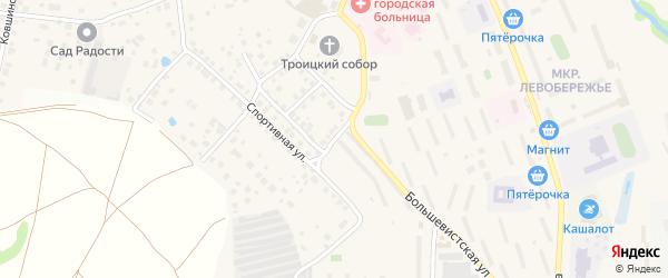 Комсомольский переулок на карте Яхромы с номерами домов