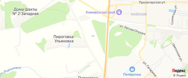 Карта садового некоммерческого товарищества Урожая в Тульской области с улицами и номерами домов
