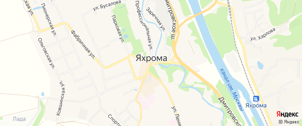 Территория Квартал Прогресс-1 на карте Яхромы с номерами домов