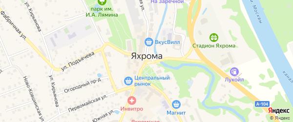 Квартал Погребок на карте Яхромы с номерами домов
