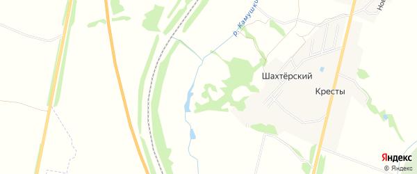 Карта садового некоммерческого товарищества Заря (в р-не Костомарово) в Тульской области с улицами и номерами домов