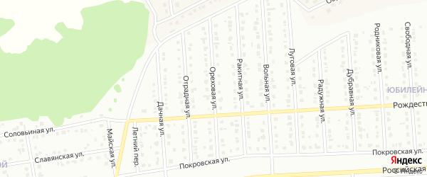 Ореховая улица на карте Юбилейного микрорайона с номерами домов