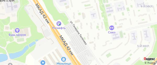 Улица Генерала Тюленева на карте Москвы с номерами домов