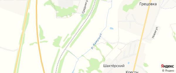 Карта садового некоммерческого товарищества Железнодорожник (в р-не д Беловы Дворы) в Тульской области с улицами и номерами домов